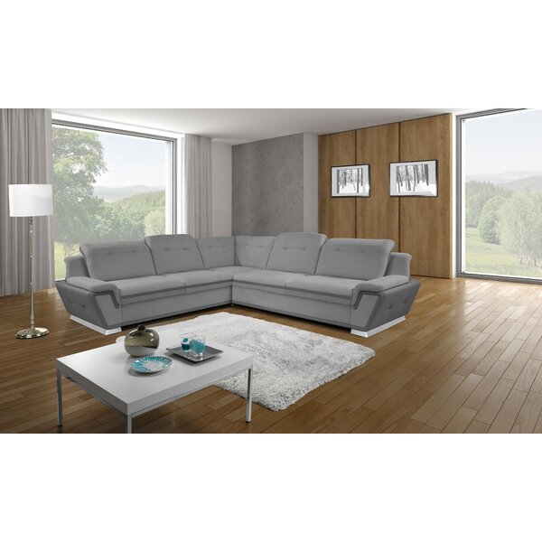 Donecia Upholstery Sleeper Sectional by Orren Ellis