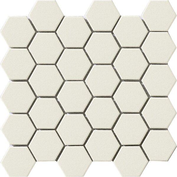 Urban 2.25 x 2.25 Porcelain Mosaic Tile in Off-White Hexagon by Walkon Tile