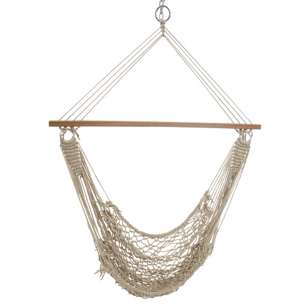 Dinges Single Cotton Rope Chair Hammock by Bungalow Rose