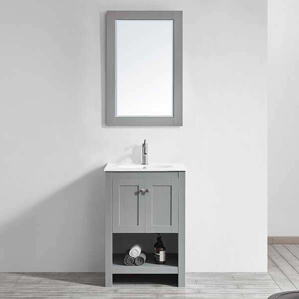 Bunch 24 Single Bathroom Vanity Set with Mirror by Ebern Designs