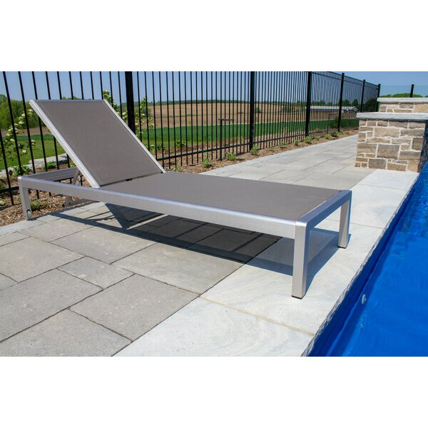 Reitz Reclining Chaise Lounge with Cushion by Ivy Bronx Ivy Bronx