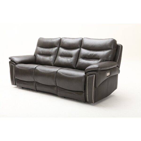 Great Deals City Lights Leather Reclining Sofa