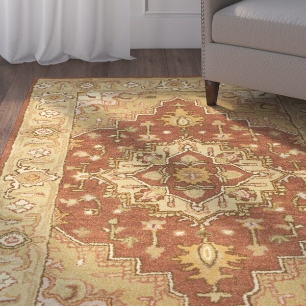 Cranmore Hand-Tufted Wool Rust/Gold Rug by Charlton Home
