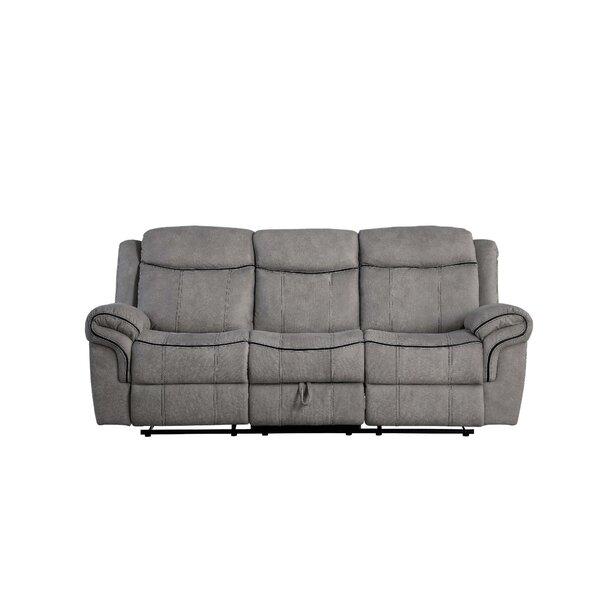 Dasha Velvet Reclining 87'' Pillow Top Arm Sofa By Red Barrel Studio