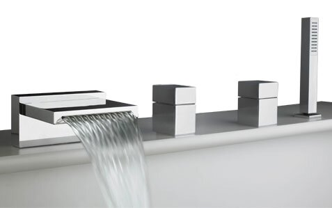 Quarto Deck Mount Roman Tub Faucet Trim by Artos