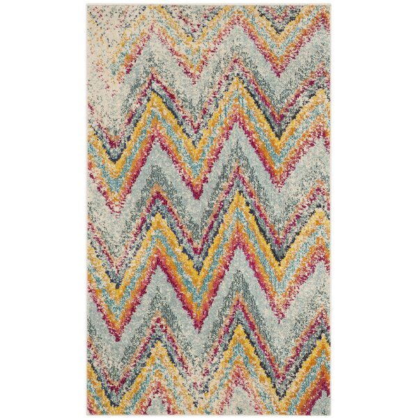 Pink/Blue Area Rug by Bungalow Rose