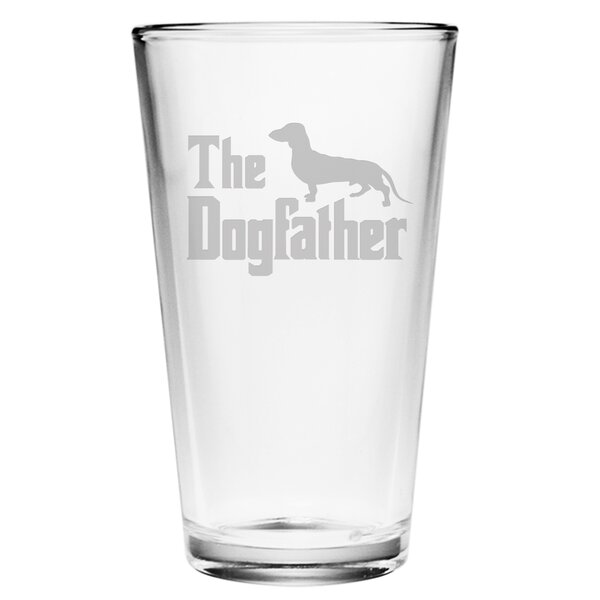 Dogfather Pint Glass (Set of 4) by Susquehanna Glass