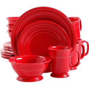 Lakin Barberware 16 Piece Dinnerware Set, Service For 4