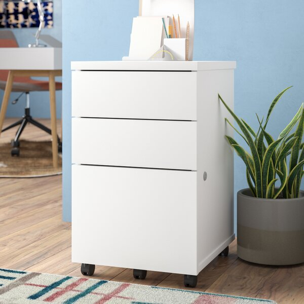 3-Drawer Mobile Vertical Filing Cabinet by Symple Stuff