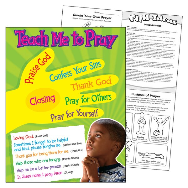 Teach Me To Pray Learning Chart by Trend Enterprises