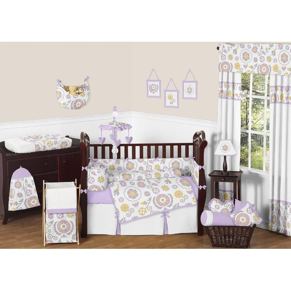 Suzanna 9 Piece Crib Bedding Set by Sweet Jojo Designs