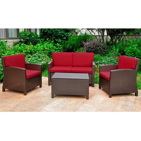 Stapleton 4 Piece Sofa Set with Cushions by Charlton Home