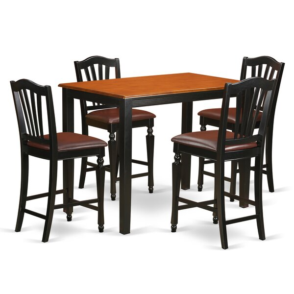 Bargain Yarmouth 5 Piece Counter Height Pub Table Set By East West Furniture New