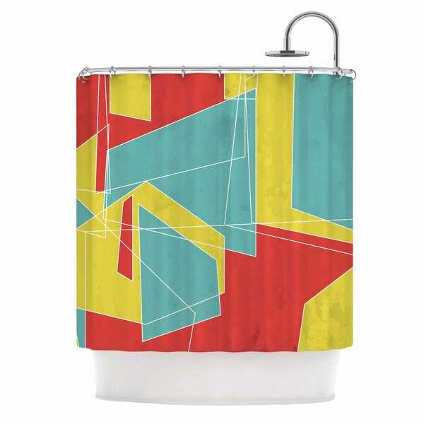Cartagena Walls by MaJoBV Geometric Shower Curtain by East Urban Home