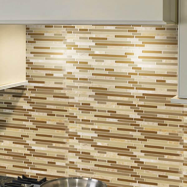 Random Sized Glass Mosaic Tile in Honey Caramel by MSI