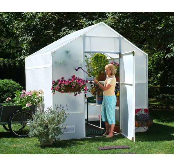 Garden Master 8 Ft. W x 8 Ft. D Greenhouse by Solexx