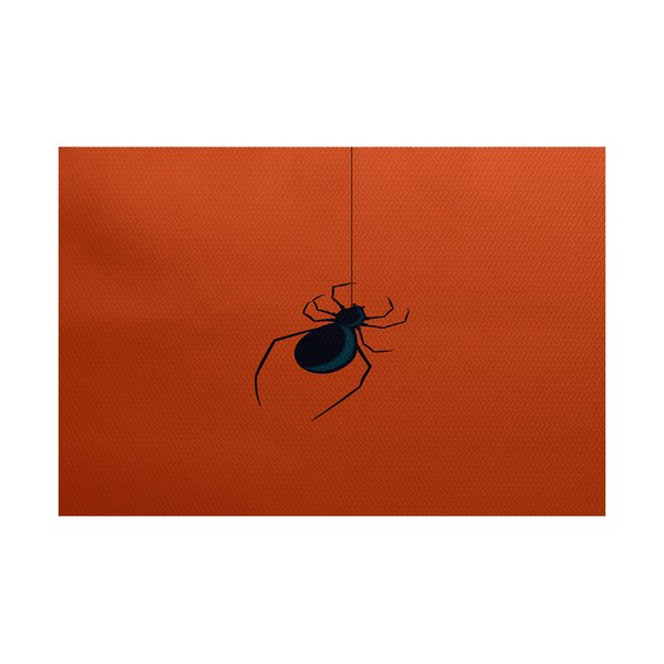 Eeek! Holiday Print Orange Indoor/Outdoor Area Rug