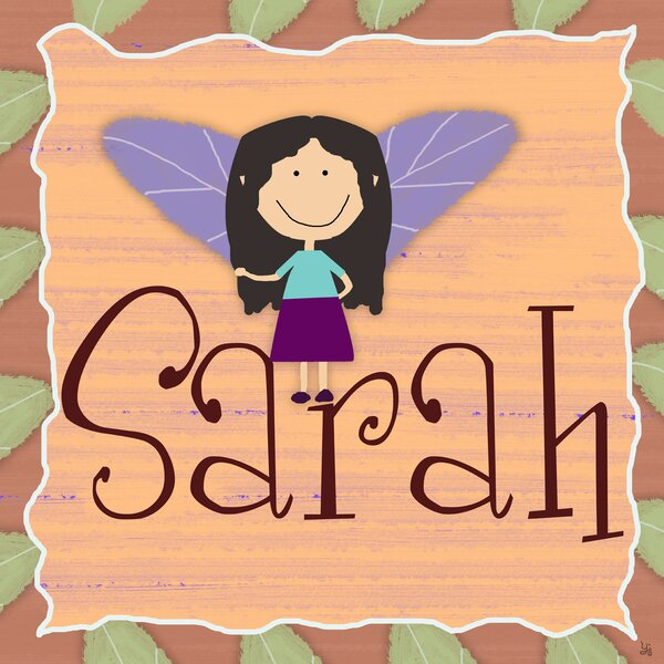 Fairy Little Girl Personalized Canvas Art by Green Leaf Art