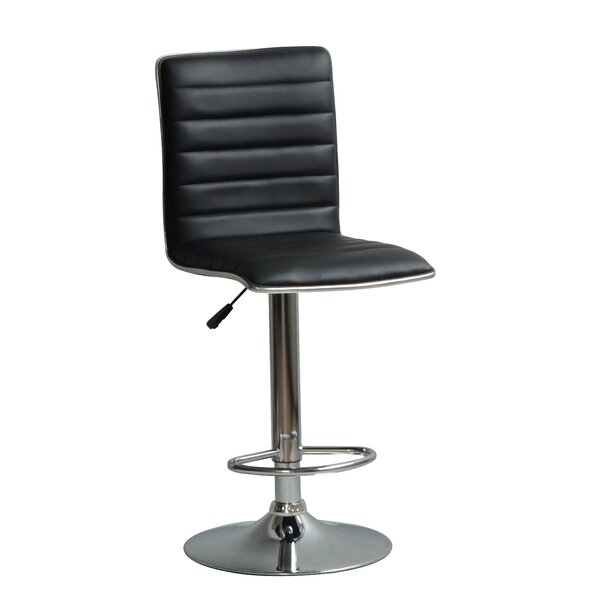 Hurtado Adjustable Height Swivel Bar Stool by Orren Ellis