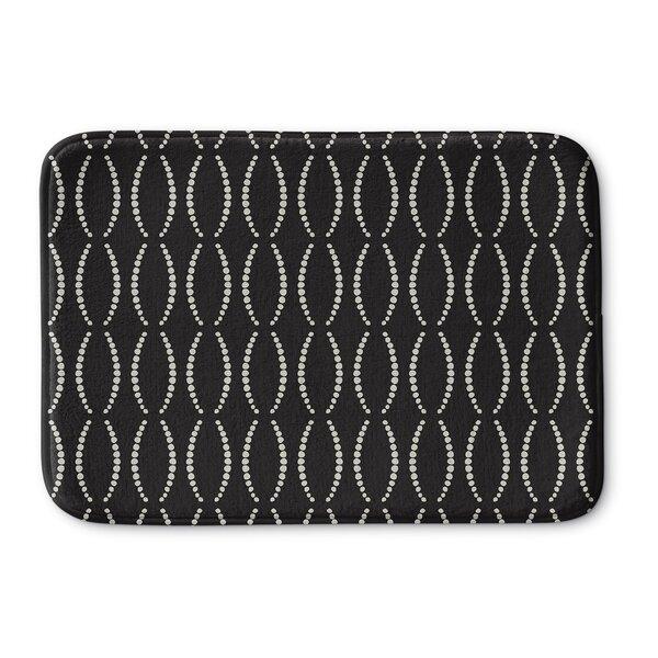 Hubert Rectangle Memory Foam Non-Slip Geometric Bath Rug