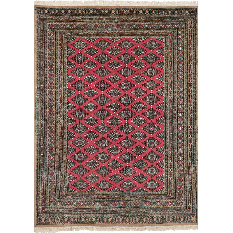Isabelline One Of A Kind Do Hand Knotted Wool Red Area Rug Wayfair
