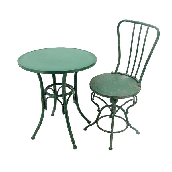 Kaler Metal 3 Piece Bistro Set by August Grove