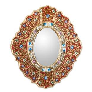Novica Asunta Pelaez Unique Reverse Painted Accent Mirror