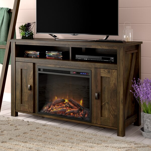 Price comparison Whittier TV Stand for TVs up to 50 with Electric Fireplace Included by Mistana