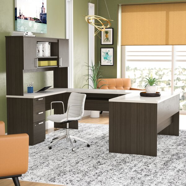 Barts U-Shape Executive Desk with Hutch by Latitude Run