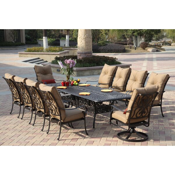 Lanesville 11 Piece Dining Set with Cushions by Darby Home Co
