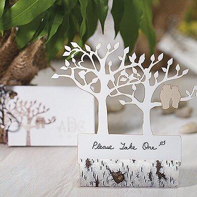 Faux Birch Log Place Card Holder (Set of 6) by Weddingstar