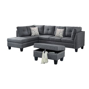 Eliseo Sectional with Ottoman Ebern Designs