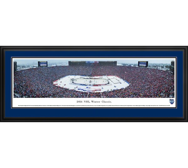 NHL Winter Classic - Toronto Maple Leafs by Christopher Gjevre Framed Photographic Print by Blakeway Worldwide Panoramas, Inc