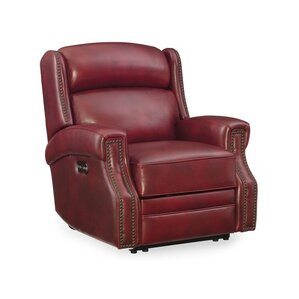 Carlisle Leather Power Recliner with Power Headrest by Hooker Furniture