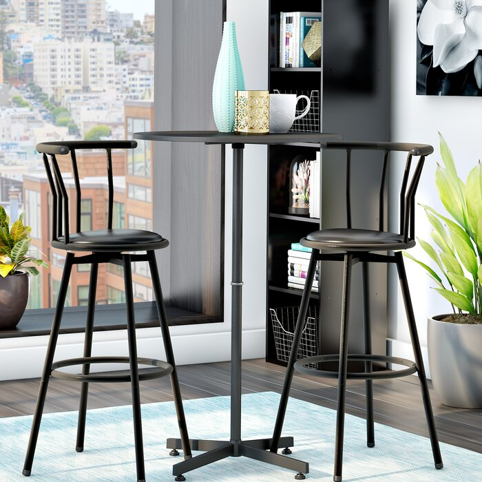 Zipcode Design Mavis 3 Piece Pub Table Set & Reviews | Wayfair.ca