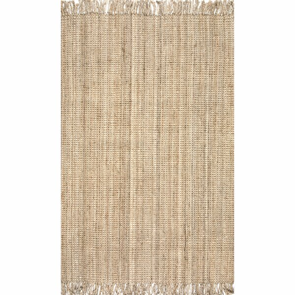 Elana Hand-Woven Natural Area Rug by Beachcrest Home
