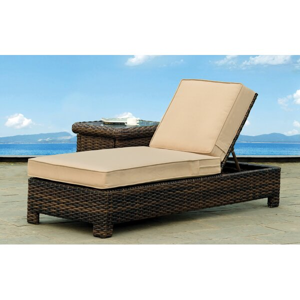 Losey Chaise Lounge with Cushion