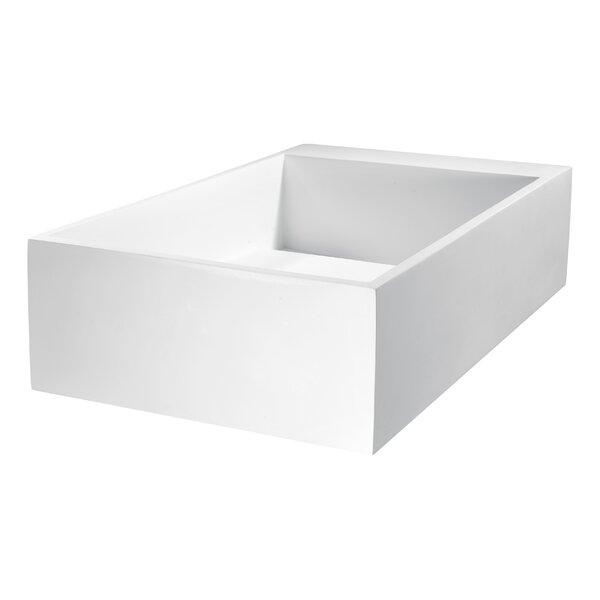 Pascal Matte White Plastic Rectangular Vessel Bathroom Sink