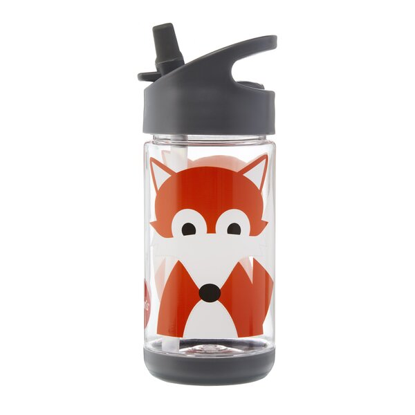 Fox 12 oz. Plastic Water Bottle by 3 Sprouts