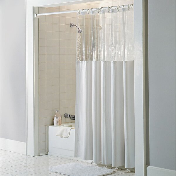 See Through Bath Vinyl Shower Curtain by Symple Stuff