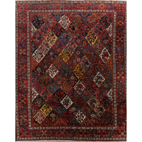 One-of-a-Kind Timberline Hand-Knotted Bakhtiari Brown 13'3 x 16' Wool Area Rug