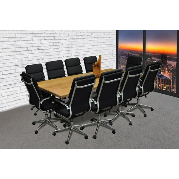 Rectangular 30H x 42W x 96L Conference Table Set by Symple Stuff