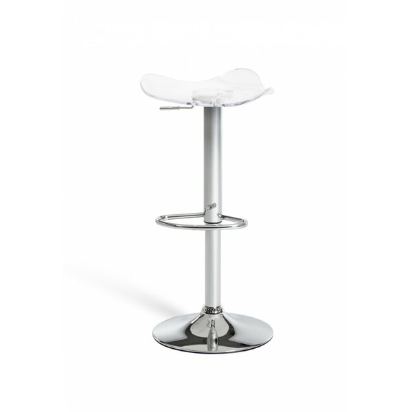 Clower Backless Adjustable Height Swivel Bar Stool by Orren Ellis