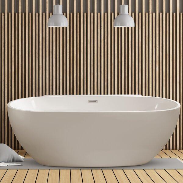 59 x 22.8 Freestanding Soaking Bathtub by Wildon Home ®