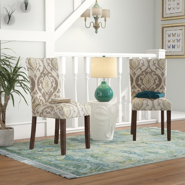 Neena Upholstered Dining Chair (Set of 2) by Bungalow Rose