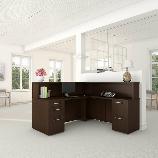 300 Series L-Shaped Executive Desk by Bush Business Furniture