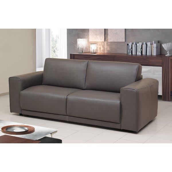 Rowley Genuine Leather Sofa Bed Sleeper by Orren Ellis