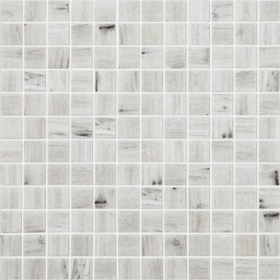French Country 1 x 1 Glass Mosaic Tile in Gray by Kellani