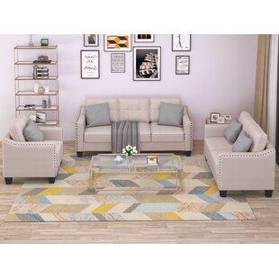 Everrette 3 Piece Living Room Set by Red Barrel Studio®