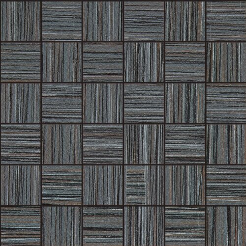 Bamboo 2 x 2 Porcelain Field Tile in Noir Linen by Travis Tile Sales